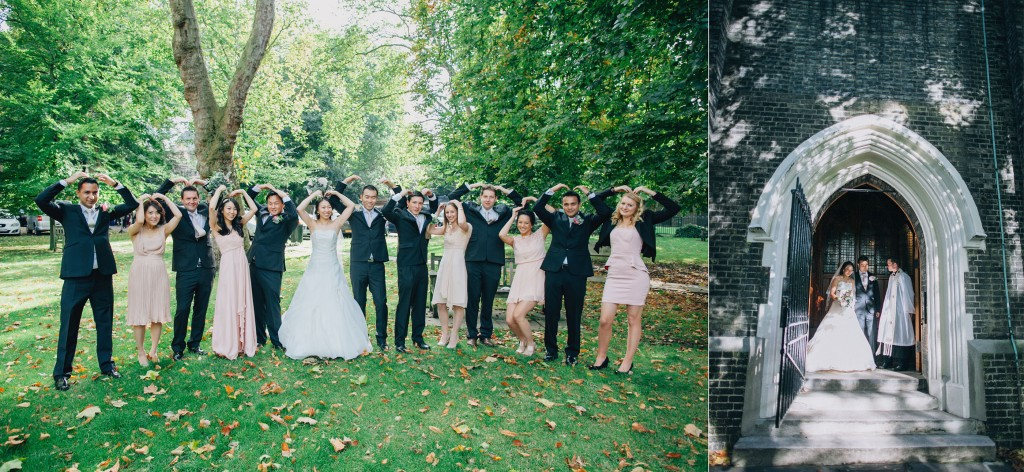 nicholas-lau-nicholau-weddings-london-film-photography-beautiful-pretty-blog-first-wedding-love-cute-white-dress-chinese-asian-bridesmaids-groomsmen-party-heart-arms-group-photo-church-doors