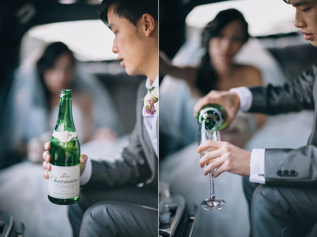 nicholas-lau-nicholau-weddings-london-film-photography-beautiful-pretty-blog-first-wedding-love-cute-white-dress-chinese-asian-champagne-toast-flutes-bride-groom-limo-car