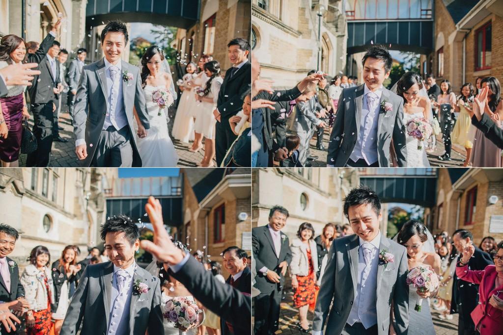 nicholas-lau-nicholau-weddings-london-film-photography-beautiful-pretty-blog-first-wedding-love-cute-white-dress-chinese-asian-throwing-rice-petals-blossoms-just-married