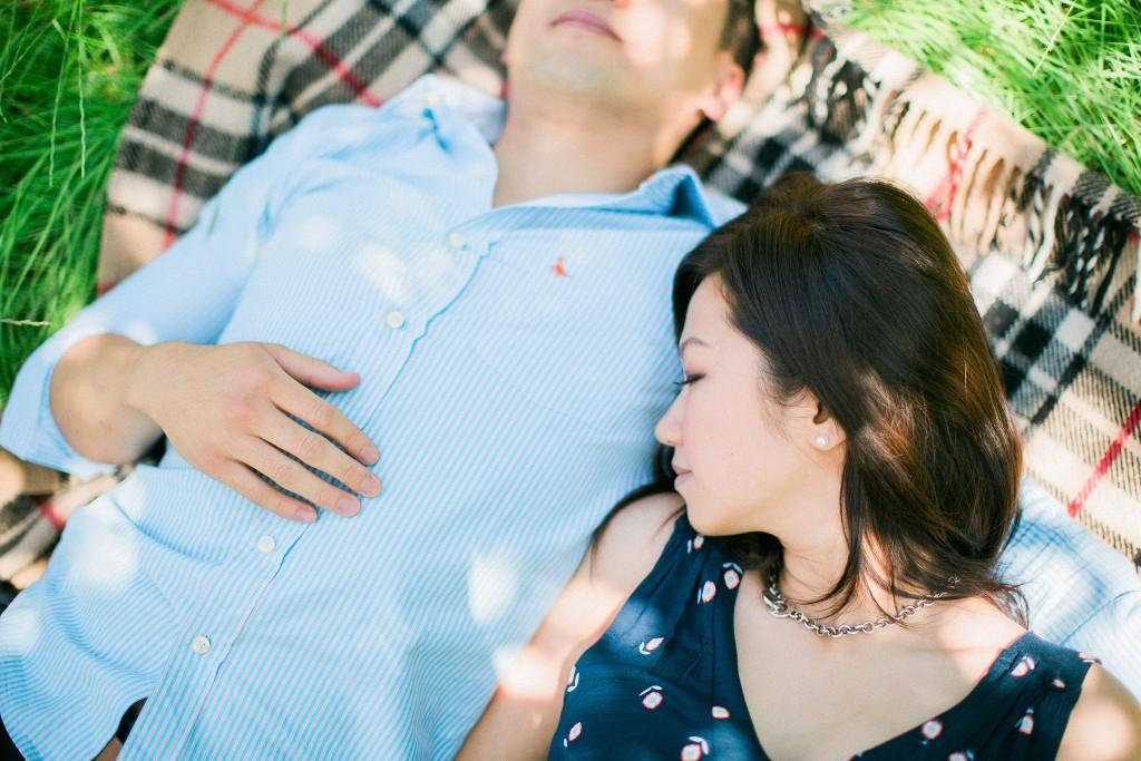 nicholas-lau-nicholau-beautiful-film-photography-love-london-engagement-couple-sunlight-summer-chinese-asian-tree-grass-picnic-blanket-sleeping-husband-boyfriend-arm-pillow