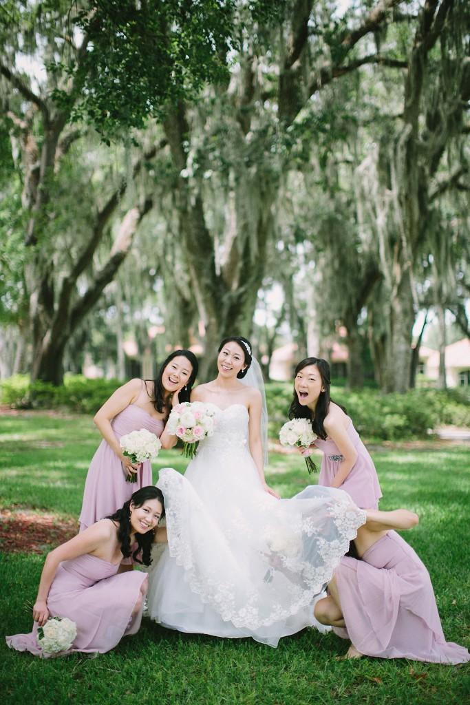 nicholas-lau-nicholau-weddings-london-film-photography-beautiful-pretty-blog-florida-wedding-love-cute-white-dress-chinese-korean-asian-bridesmaids-bride-being-silly-under-dress-garter