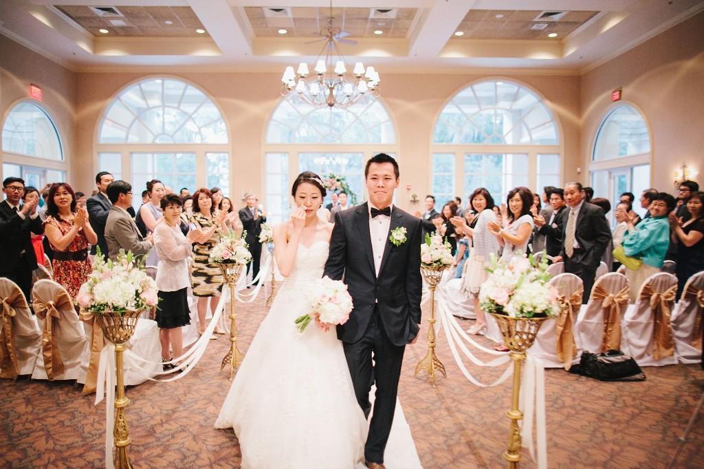 nicholas-lau-nicholau-weddings-london-film-photography-beautiful-pretty-blog-florida-wedding-love-cute-white-dress-chinese-korean-asian-groom-bride-walking-down-the-asiel