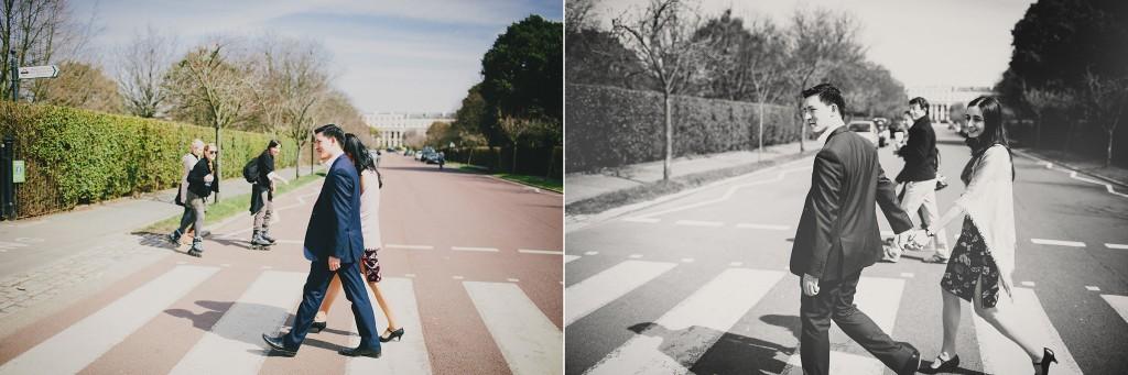 nicholas-lau-nicholau-family-portraits-london-film-photography--chinese-asian-interracial-white-moroccan-half-mixed-baby-engagement-purple-cheongsam-regents-park-man-freckles-crosswalk-road-blue-suit