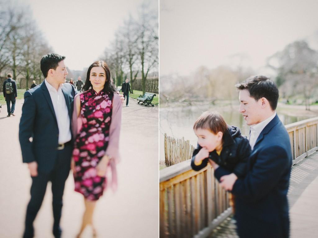 nicholas-lau-nicholau-family-portraits-london-film-photography-chinese-asian-interracial-white-moroccan-half-mixed-baby-engagement-purple-cheongsam-regents-park-man-freckles-father-mother-son-pond