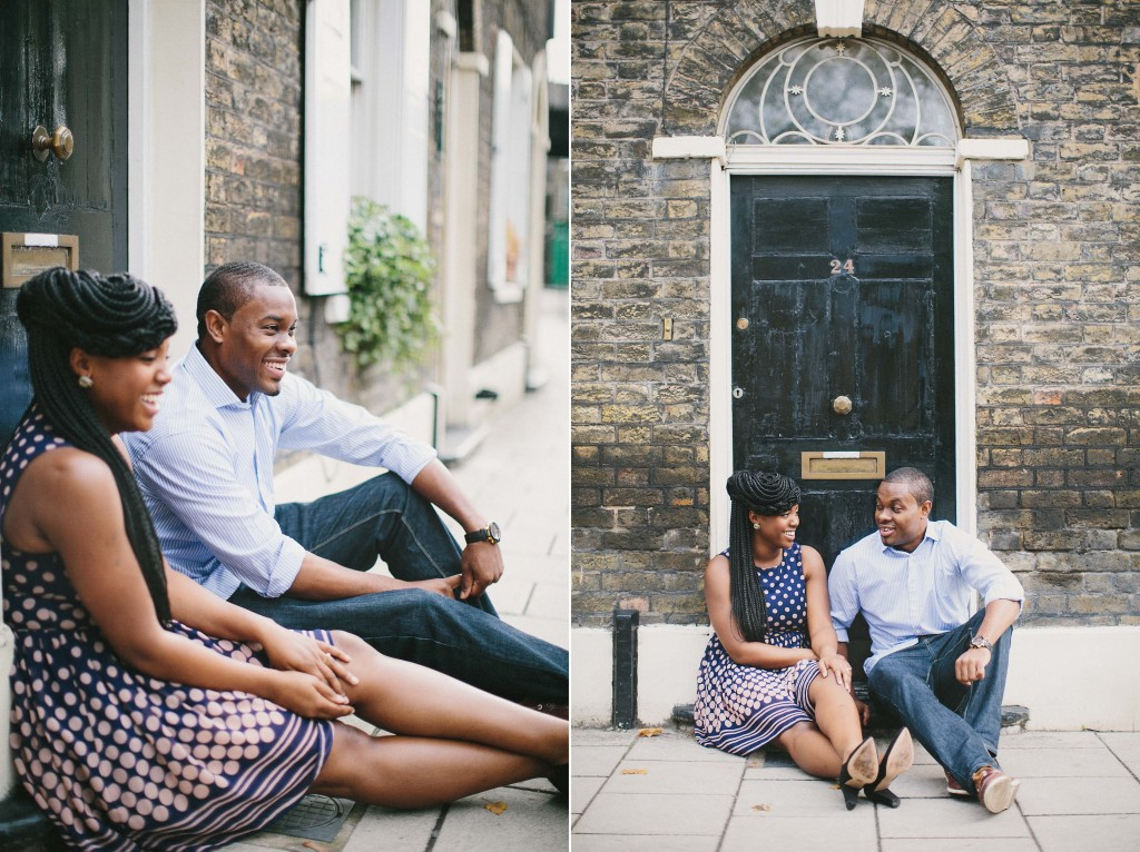 nicholau-nicholas-lau-photography-couples-session-pre-wedding-engagement-love-african-london-24-baker-street-discussion-on-the-threshold-door-antique