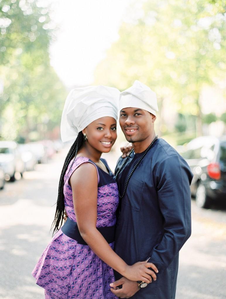 nicholau-nicholas-lau-photography-couples-session-pre-wedding-engagement-love-african-london-gele-traditional-clothes-purple-dress-street-urban