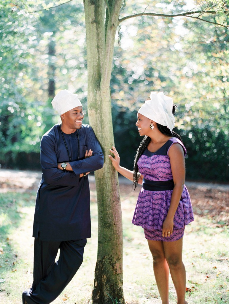 nicholau-nicholas-lau-photography-couples-session-pre-wedding-engagement-love-african-london-meeting-under-a-tree-purple-dress-tunic-traditional-geles-garden-park