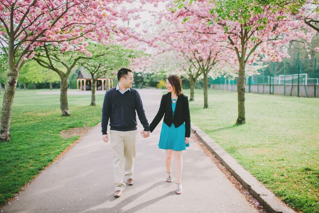 nicholas-lau-nicholau-engagement-spring-photography-peony-and-mockingbird-chinese-couple-battersea-park-westminster-something-blue-holding-hands-enjoying-company