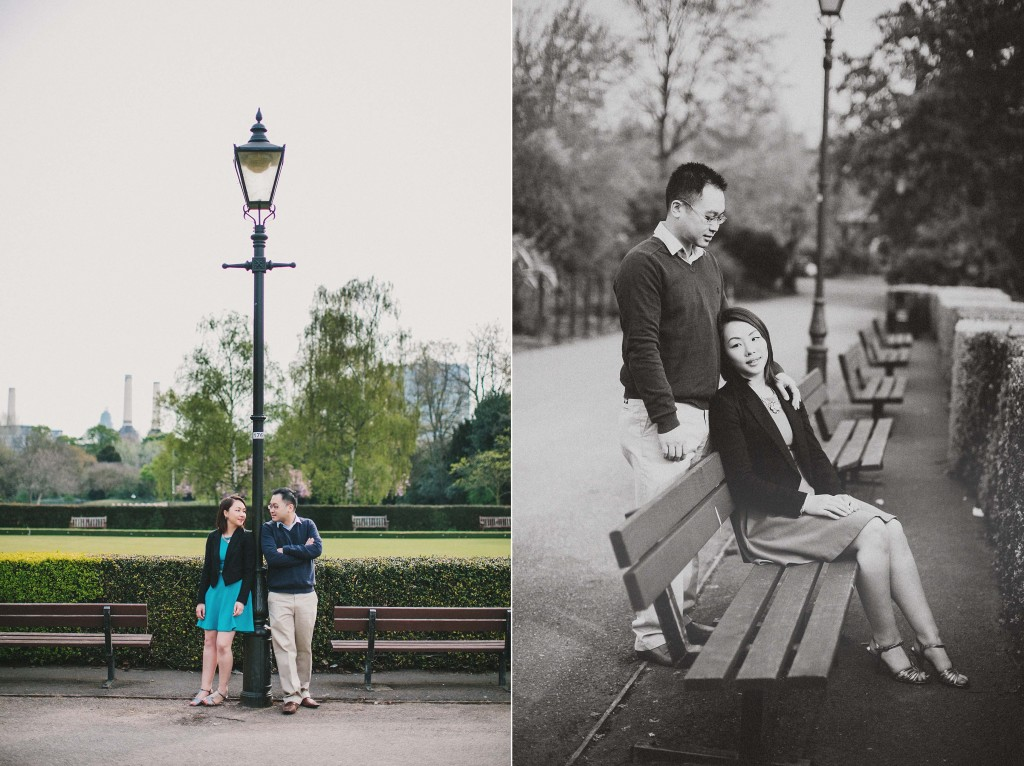nicholas-lau-nicholau-engagement-spring-photography-peony-and-mockingbird-chinese-couple-battersea-park-westminster-something-blue-under-lamp-post-bench-together