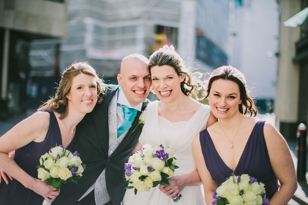 nicholas-lau-nicholau-london-weddings-fine-art-photography-leadenhall-market-st-helens-church-documentary-style-big-smiles-happy-bride-groom-bridesmaids-hens
