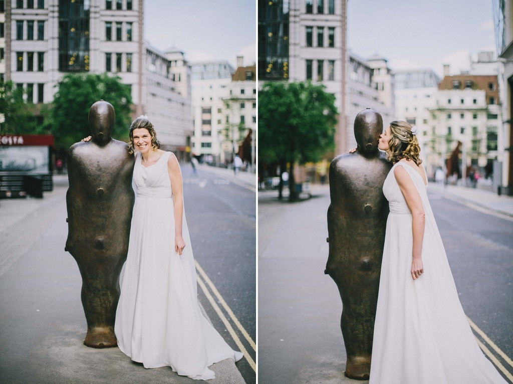 nicholas-lau-nicholau-london-weddings-fine-art-photography-leadenhall-market-st-helens-church-documentary-style-iron-cage-man-street-art-bride-pose