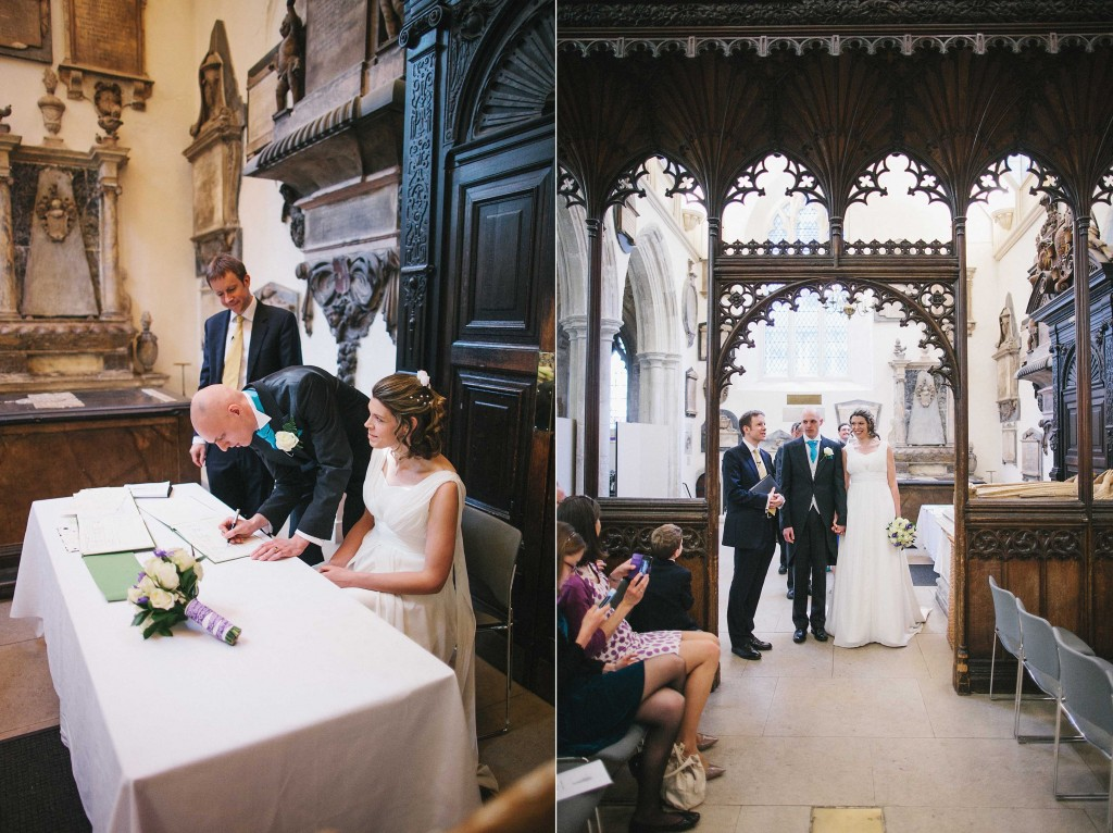 nicholas-lau-nicholau-london-weddings-fine-art-photography-leadenhall-market-st-helens-church-documentary-style-signing-certificate-of-marriage-wooden-arch-alter