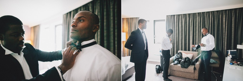 Nicholau-nicholas-lau-photography-london-uk-wedding-fine-art-film-nigerian-black-african-traditional-getting-ready-groom-bowtie-bow-tie-white-shirt