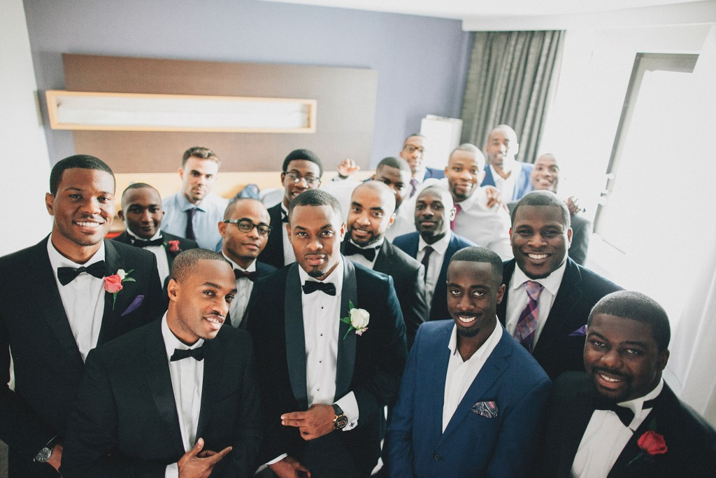 Nicholau-nicholas-lau-photography-london-uk-wedding-fine-art-film-nigerian-black-african-traditional-groomsmen-getting-ready-tuxedo-bowtie-bow-ties-group-shot