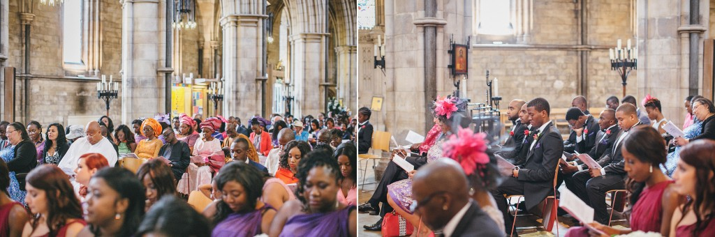 Nicholau-nicholas-lau-photography-london-uk-wedding-fine-art-film-nigerian-black-african-traditional-kele-tunic-robes-in-catholic-church-pews