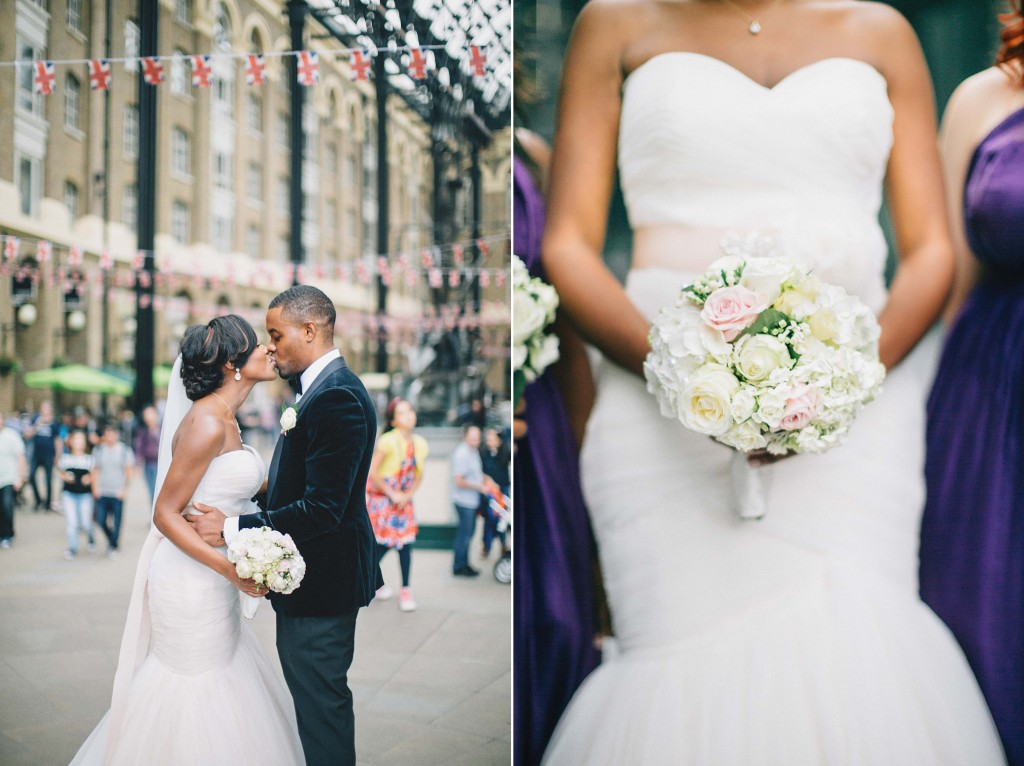 Nicholau-nicholas-lau-photography-london-uk-wedding-fine-art-film-nigerian-black-african-traditional-leadenhall-market-bridge-groom-bouquet-white-roses-urban-love