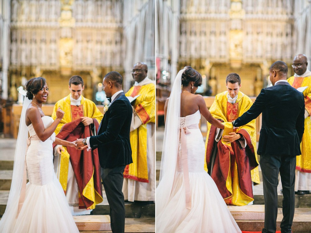 Nicholau-nicholas-lau-photography-london-uk-wedding-fine-art-film-nigerian-black-african-traditional-tie-hands-together-yellow-robes-alter-vicor