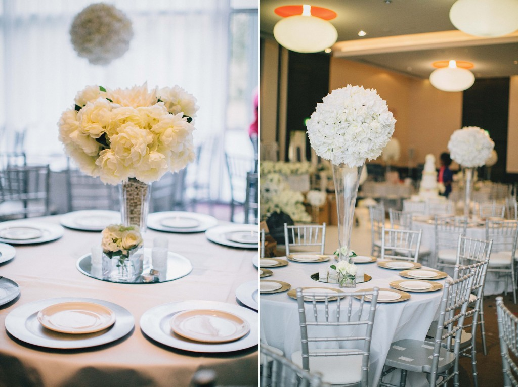 Nicholau-nicholas-lau-photography-london-uk-wedding-fine-art-film-nigerian-black-african-traditional-white-tier-cake-roses-three-silver-chairs-center-pieces