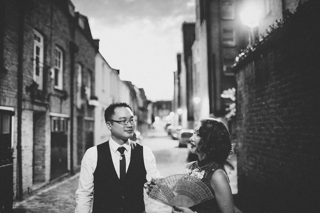 Nicholas-lau-nicholau-wedding-fine-art-film-photography-love-london-uk-chinese-asian-black-white-retro-vintage-urban-kiss-bride-groom-retro-in-the-mood-for-love