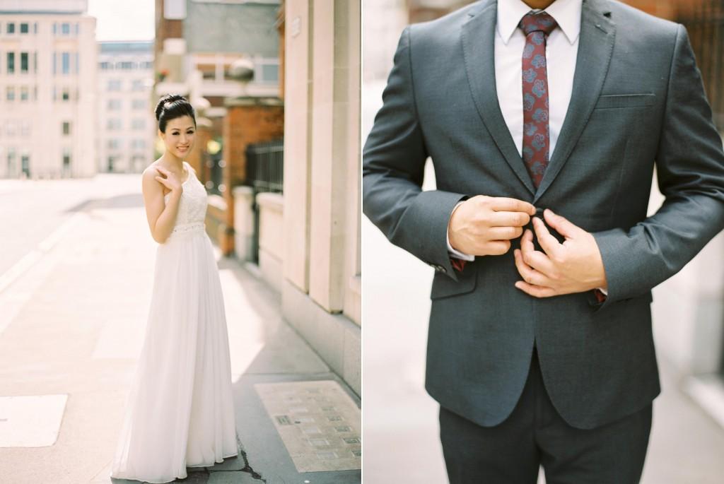 nicholas-lau-nicholau-chinese-london-uk-film-fine-art-photography-engagement-couple-pre-wedding-portra-160-400-800-fuji-contax-645-bank-side-love-architecture-button-suit-tie-white-gown-the-sun-illum