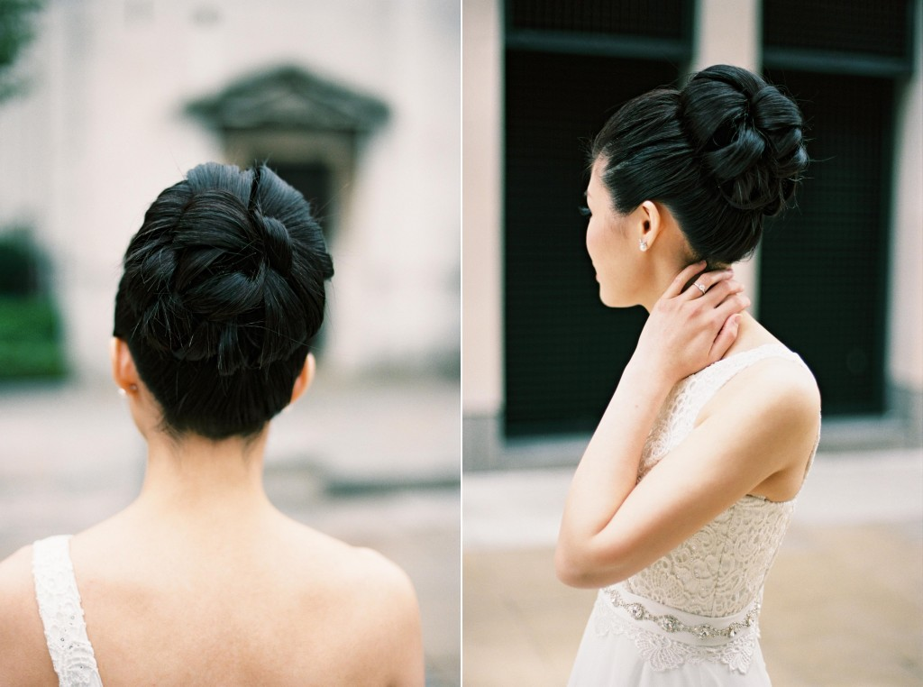 nicholas-lau-nicholau-chinese-london-uk-film-fine-art-photography-engagement-couple-pre-wedding-portra-160-400-800-fuji-contax-645-bank-side-love-architecture-hair-style-up-do-asymmetrical-gown-dress