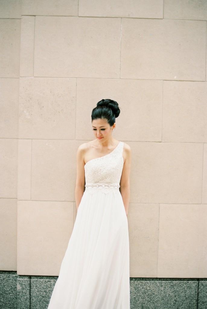 nicholas-lau-nicholau-chinese-london-uk-film-fine-art-photography-engagement-couple-pre-wedding-portra-160-400-800-fuji-contax-645-bank-side-love-architecture-pensive-white-gown-dress-bun-up-do