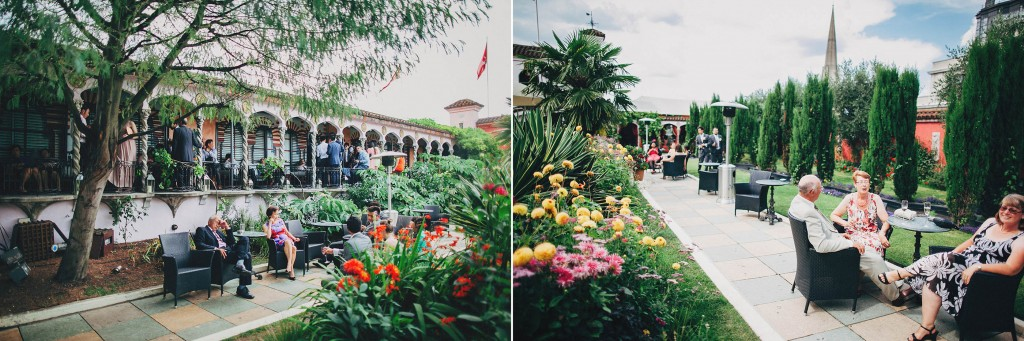 Nicholas-lau-nicholau-wedding-fine-art-film-photography-love-london-uk-chinese-asian-Kensington-roof-gardens-outside-sky-guests-paths-uk