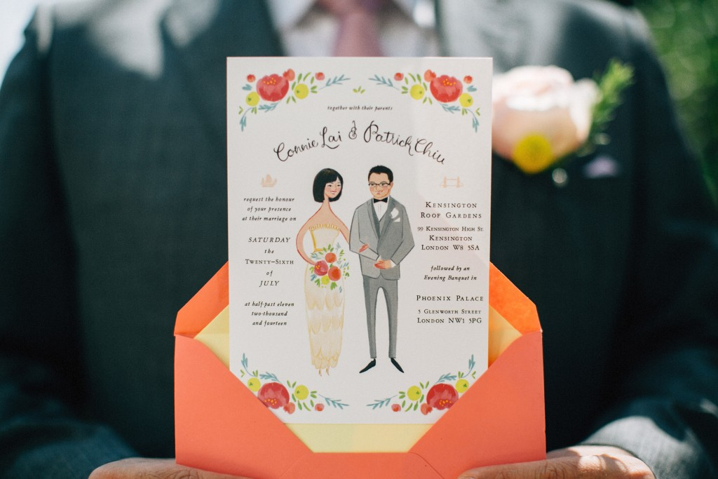 nicholau-nicholas-lau-wedding-fine-art-photography-london-chinese-asian-invitation-shot-guest-hand-painted-art-colourful-coral