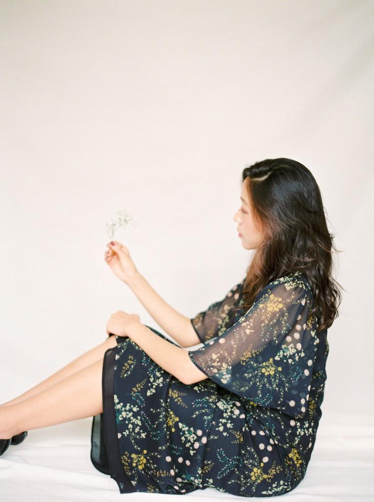 Nicholas-lau-nicholau-film-fine-art-photography-portraits-korean-asian-tea-pot-fuji-400-contax-645-pretty-beautiful-examine-look-at-flowers-pensive