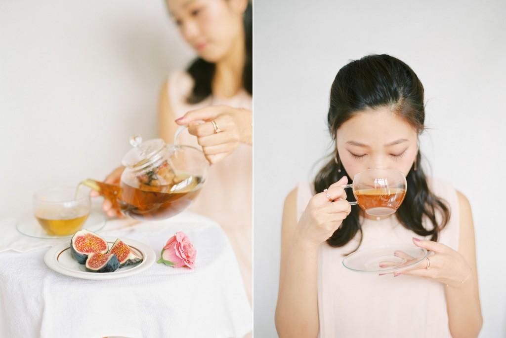 Nicholas-lau-nicholau-film-fine-art-photography-portraits-korean-asian-tea-pot-fuji-400-contax-645-pretty-beautiful-fig-tea-pink-roses-sipping-drinking