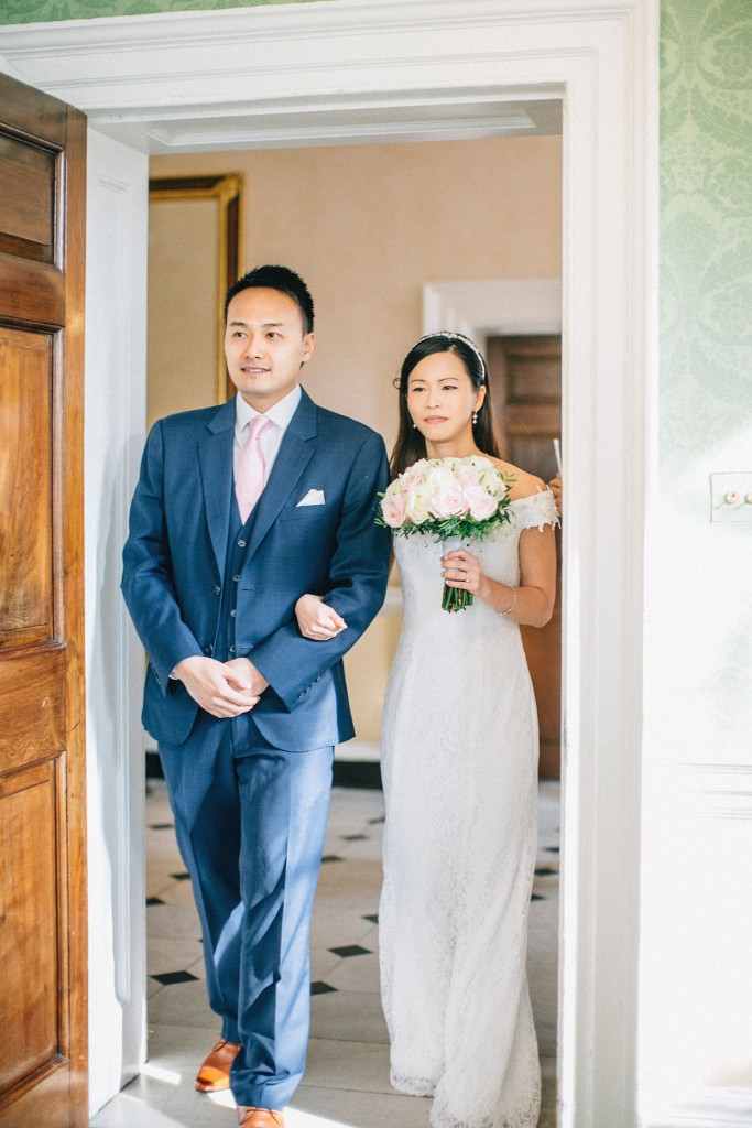 nicholas-lau-nicholau-wedding-marriage-fine-art-film-photography-blue-suit-chinese-love-dress-white-autumn-fall-leaves-bouquet-walking-down-the-aisle-together