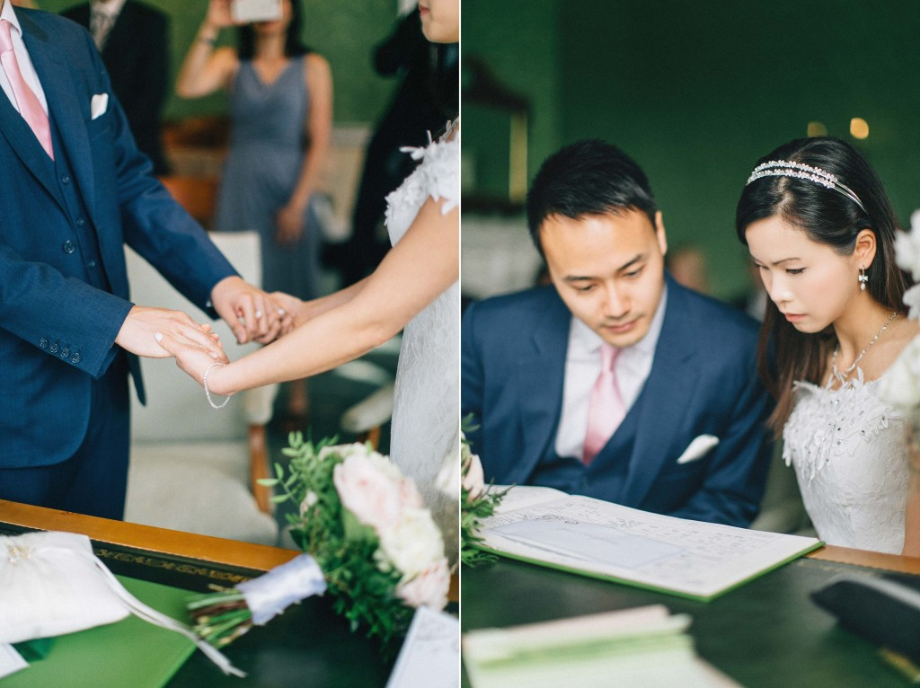 nicholas-lau-nicholau-wedding-marriage-fine-art-film-photography-blue-suit-chinese-love-dress-white-autumn-fall-leaves-hold-hands-certificate-sign-pledge
