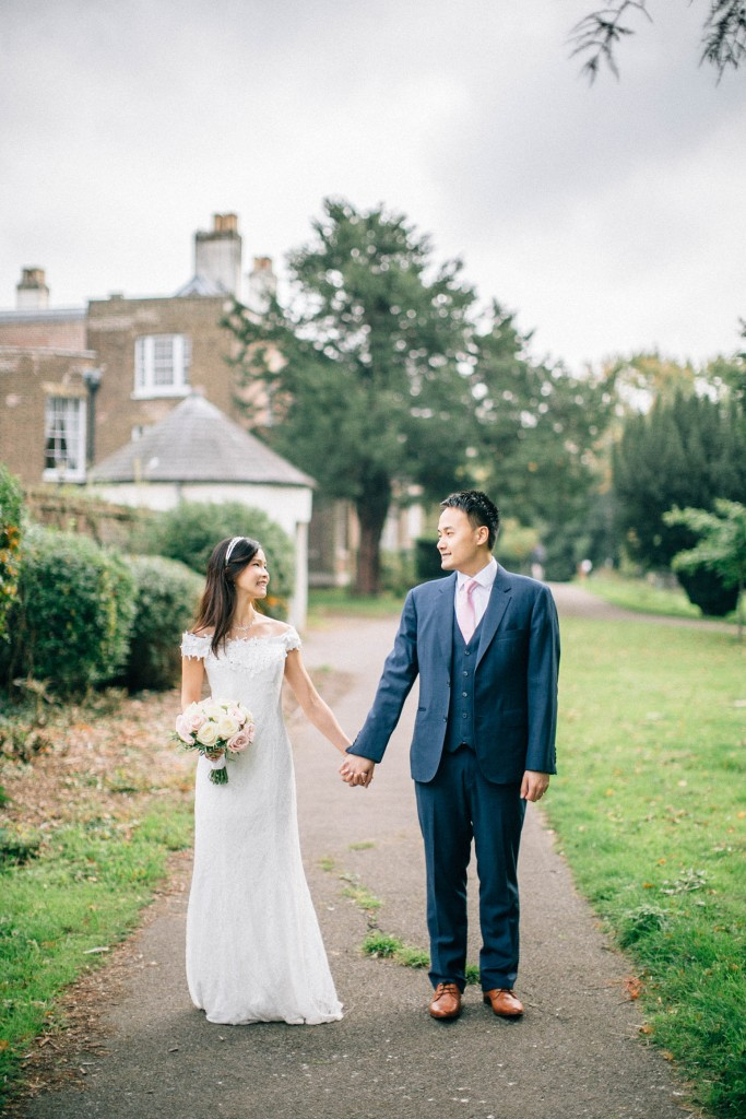 nicholas-lau-nicholau-wedding-marriage-fine-art-film-photography-blue-suit-chinese-love-dress-white-autumn-fall-leaves-path-of-life-hold-hands