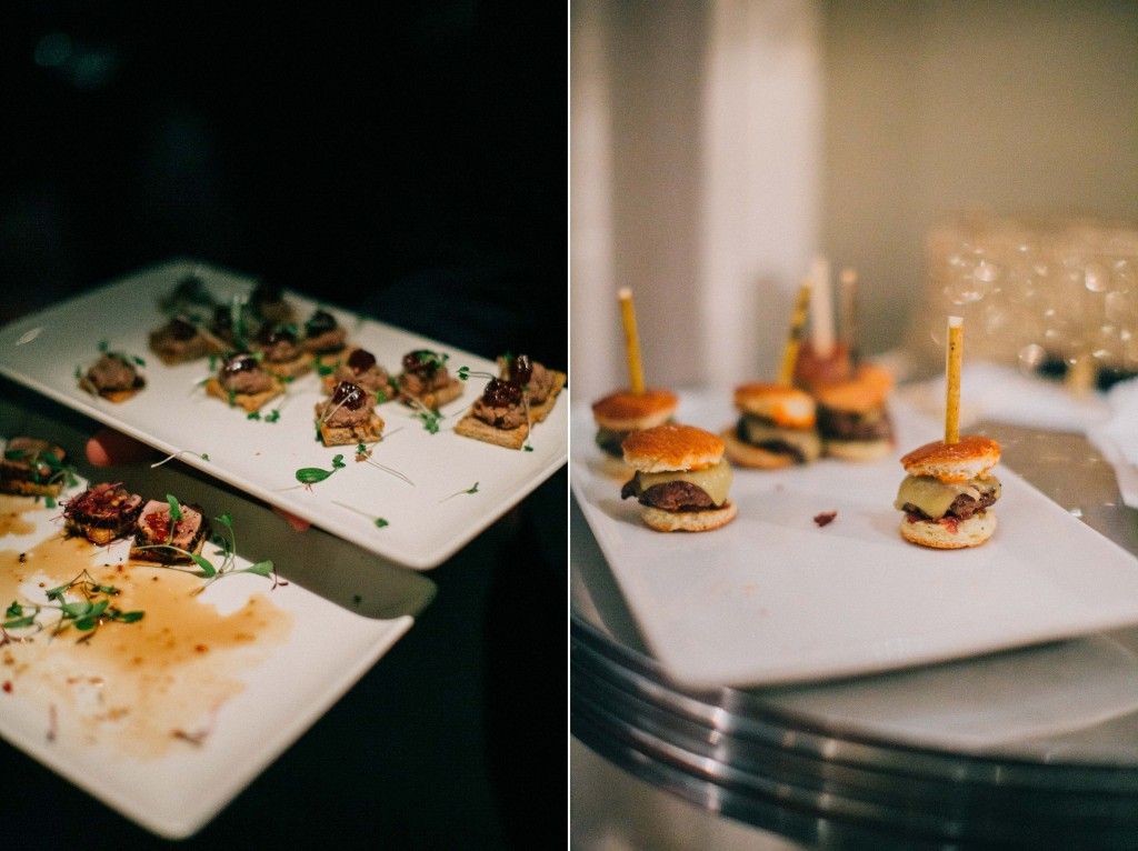 nicholas-lau-nicholau-wedding-photography-photographer-fine-art-film-winter-christmas-london-UK-modern-unique-the-arch-asia-house-appetizers-sliders-mini-cheeseburgers