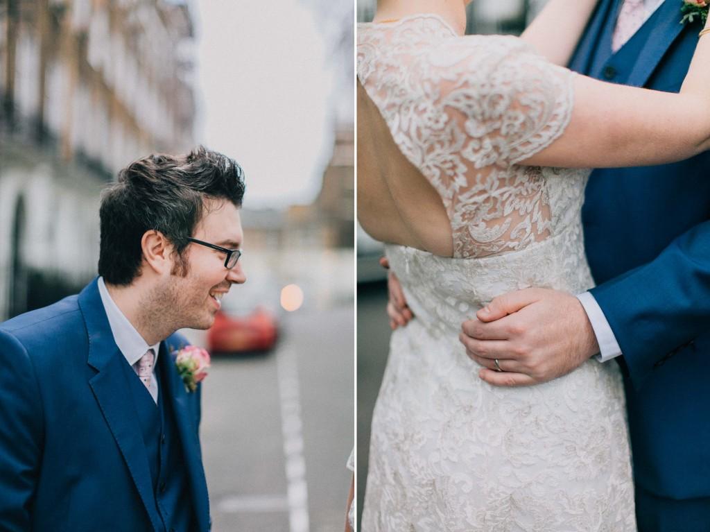 nicholas-lau-nicholau-wedding-photography-photographer-fine-art-film-winter-christmas-london-UK-modern-unique-the-arch-asia-house-blue-suit-backless-dress-holding