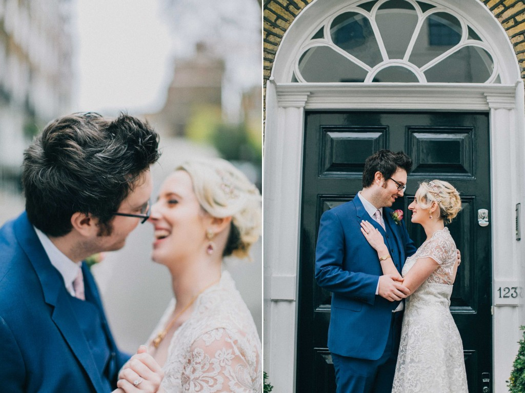 nicholas-lau-nicholau-wedding-photography-photographer-fine-art-film-winter-christmas-london-UK-modern-unique-the-arch-asia-house-bride-groom-doorway-about-to-kiss