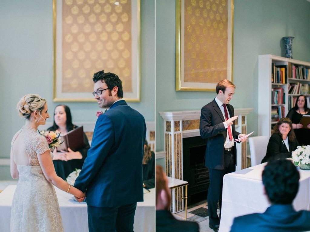 nicholas-lau-nicholau-wedding-photography-photographer-fine-art-film-winter-christmas-london-UK-modern-unique-the-arch-asia-house-ceremony-blue-suit-vows-knee-length-dress