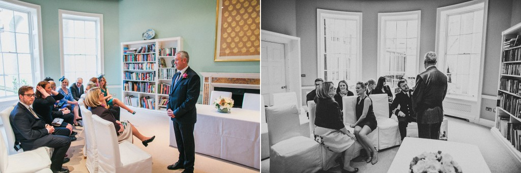 nicholas-lau-nicholau-wedding-photography-photographer-fine-art-film-winter-christmas-london-UK-modern-unique-the-arch-asia-house-ceremony-officient-suit-guests-library