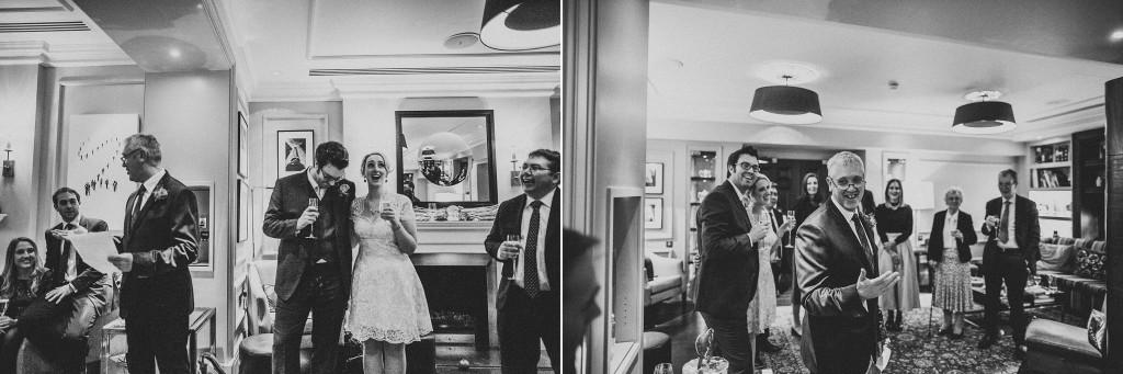 nicholas-lau-nicholau-wedding-photography-photographer-fine-art-film-winter-christmas-london-UK-modern-unique-the-arch-asia-house-speech-fireplace-black-white-reception
