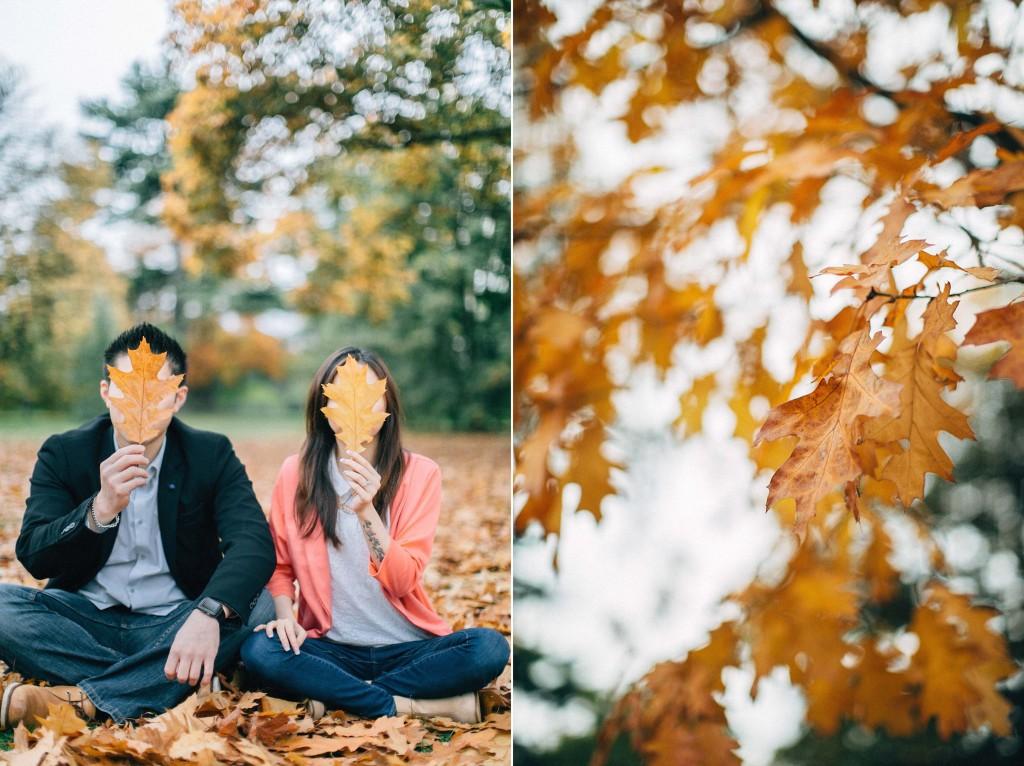 nicholau-nicholas-lau-couple-pre-wedding-film-fine-art-photography-red-blazer-leaves-fall-autumn-kew-gardens-uk-london-leaf-mask-sitting-close-up