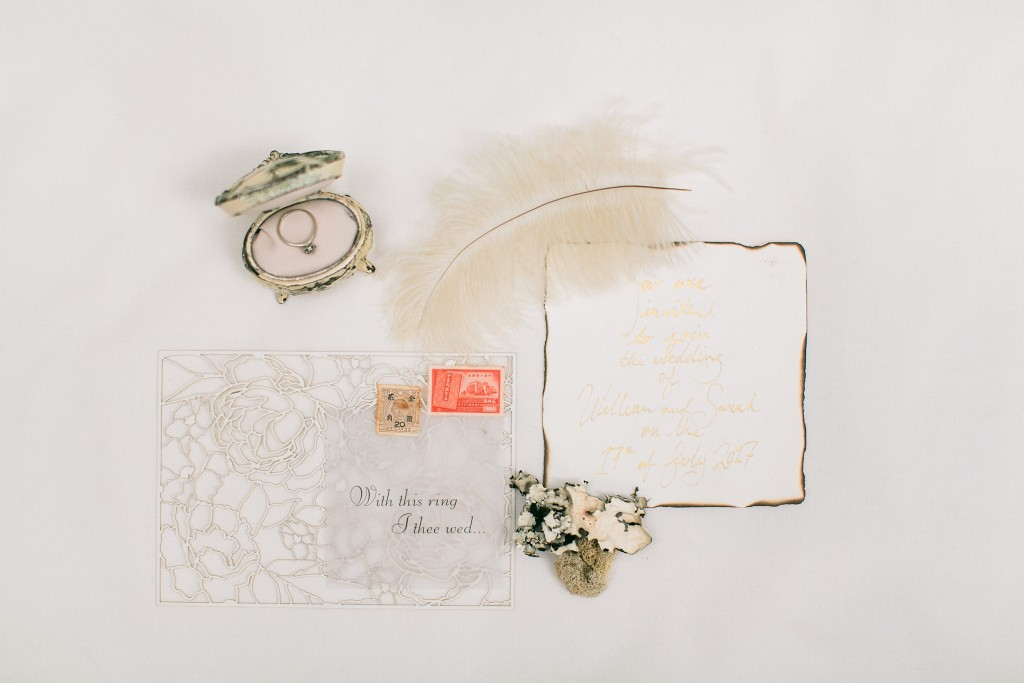 Nicholas-lau-nicholau-photo-photography-wedding-film-fine-art-invitations-feathers-rings-jewelry-box-antique-rustic-moss-stamps-wax-seal-ribbon-calligraphy-hand-written-addressed-envelopes-creamy