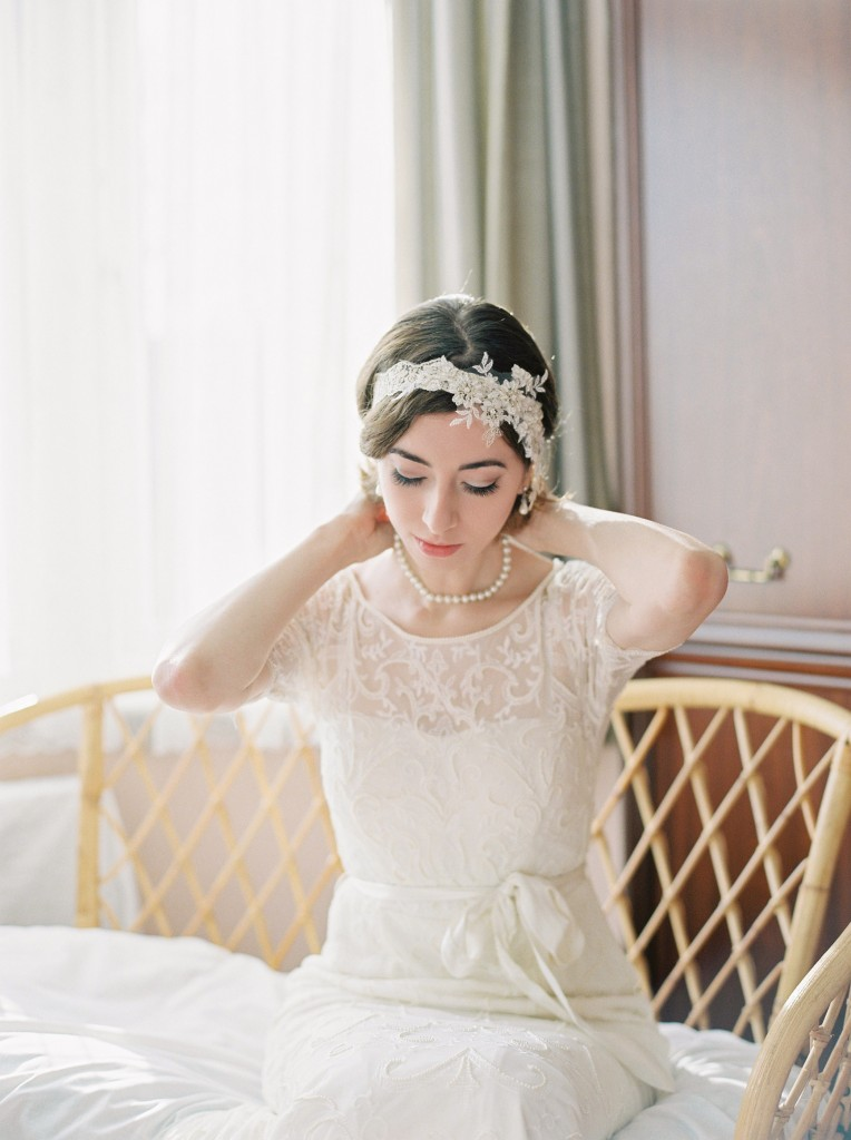 Nicholas-lau-photo-photography-nicholau-film-fine-art-fuji-400h-400-contax-645-ukfilm-lab-monsoon-wedding-dress-shoot-bridal-head-hair-accessories-pearls-the-pearl-earring-putting-on-necklace