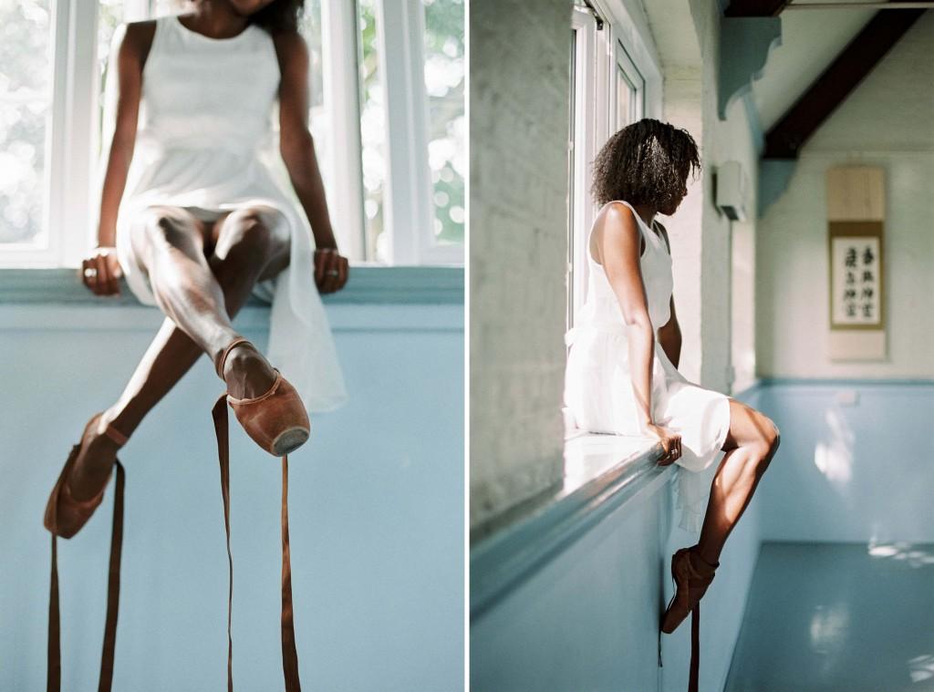 nicholas-lau-photo-photography-uk-black-african-american-ballerina-london-royal-ballet-flats-dancer-dancing-contax-645-fuji-400h-eos3-160ns-film-fine-art-unlaced-laces-sitting-window