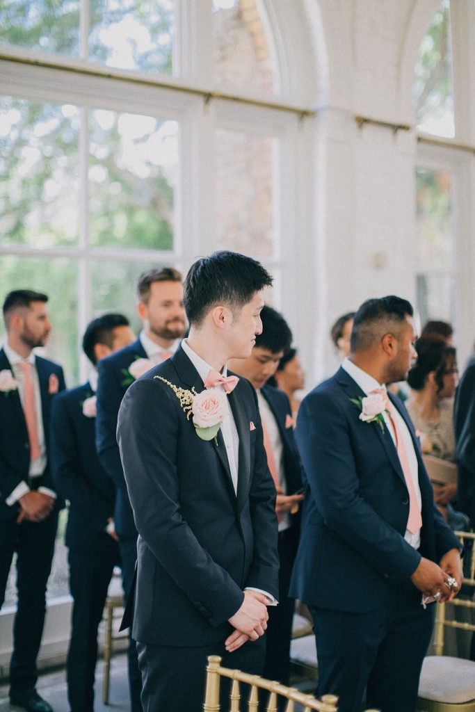 nicholas-lau-photo-photography-wedding-uk-london-holland-park-gardens-orangery-the-chinese-couple-summer-beautiful-photographer-groom-waiting-for-bride-ceremony