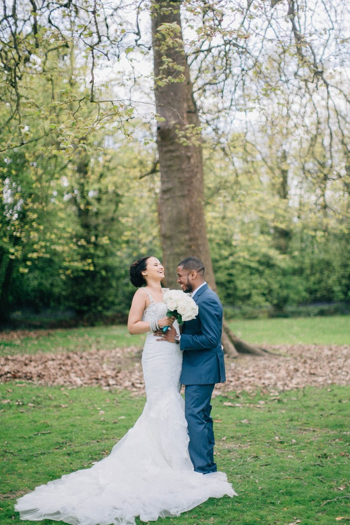 nicholas-lau-wedding-photo-photography-london-uk-ethnic-indian-black-multicultural-beautiful-summer-spring-cherry-blossoms-elegant-gilwell-park-outdoor-unique-bride-groom-laugh